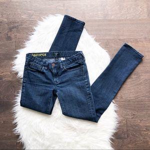 J. Crew Stretch Toothpick Blue Jeans